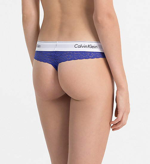 CALVINKLEIN Thong - Modern Cotton - PURE CERULEAN - CALVIN KLEIN SHOP BY SET - detail image 1