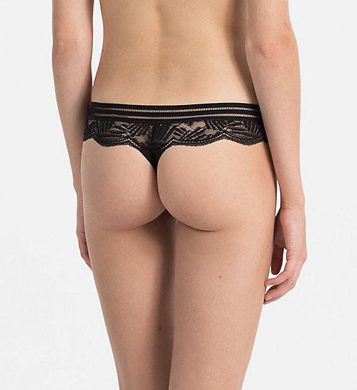 CALVINKLEIN Thong - Perfectly Fit - BLACK - CALVIN KLEIN UNDERWEAR - detail image 1