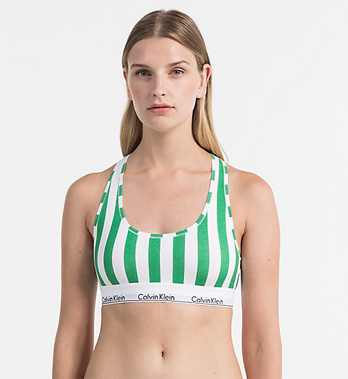 CALVINKLEIN Bralette - Modern Cotton - DB STRIPE VERTICAL_IMPULSIVE - CALVIN KLEIN SHOP BY SET - immagine principale