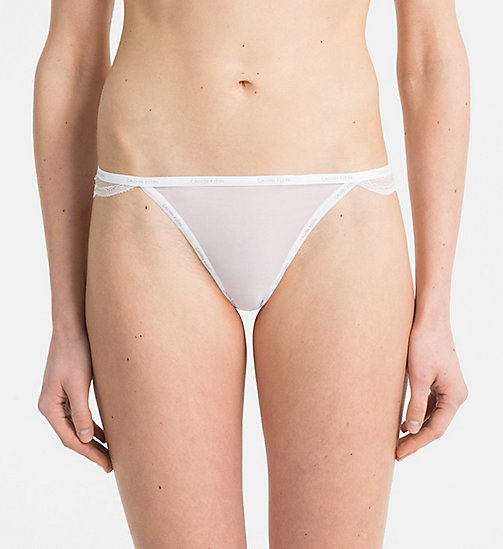 CALVINKLEIN String - Sheer Marquisette - CLASSIC WHITE - CALVIN KLEIN STRINGS - image principale