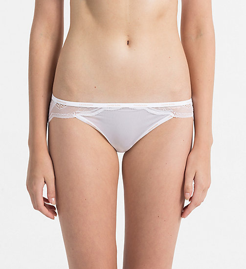 CALVINKLEIN Culotte - Sheer Marquisette - CLASSIC WHITE - CALVIN KLEIN CADEAUX - image principale