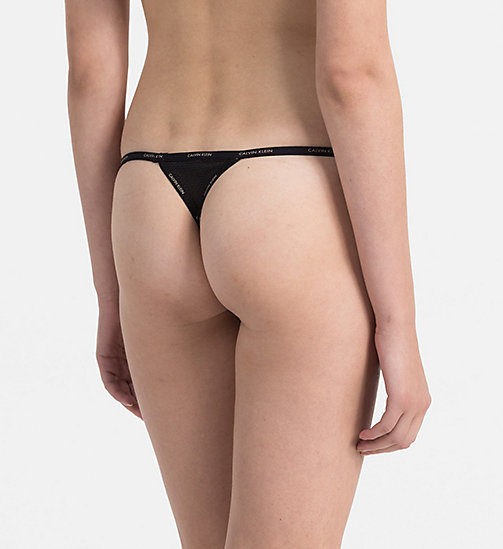 CALVINKLEIN Thong - Sheer Marquisette - BLACK -  THONGS - detail image 1
