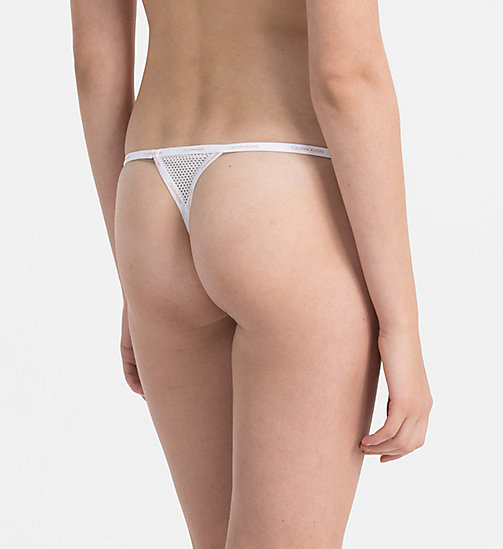 CALVINKLEIN Thong - Sheer Marquisette - WHITE -  SHOP BY SET - detail image 1