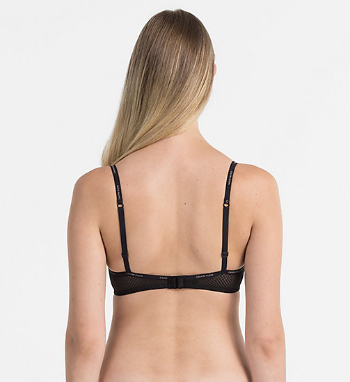 CALVINKLEIN Triangle Bra - Sheer Marquisette - BLACK -  NEW ARRIVALS - detail image 1