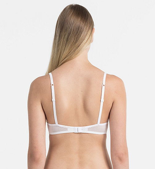 CALVINKLEIN Triangle Bra - Sheer Marquisette - WHITE - CALVIN KLEIN SHOP BY SET - detail image 1
