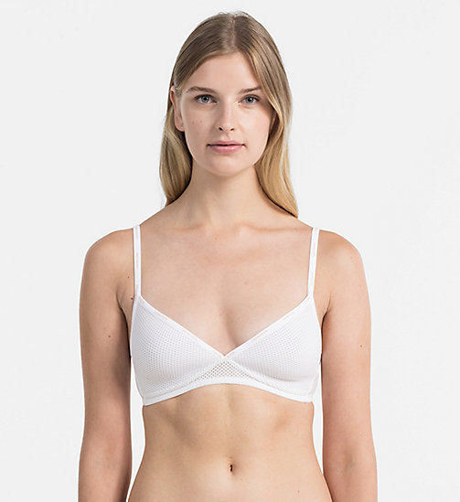CALVINKLEIN Triangel-BH - Sheer Marquisette - WHITE - CALVIN KLEIN SHOP BY SET - main image