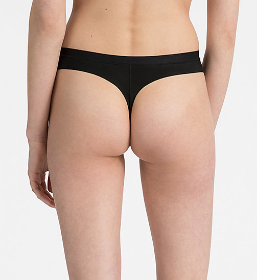 CALVINKLEIN Thong - CK Form - BLACK - CALVIN KLEIN ESSENTIAL SETS - detail image 1