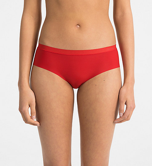 CALVIN KLEIN Hipsters - CK Form - MANIC RED - CALVIN KLEIN HIPSTER PANTIES - main image