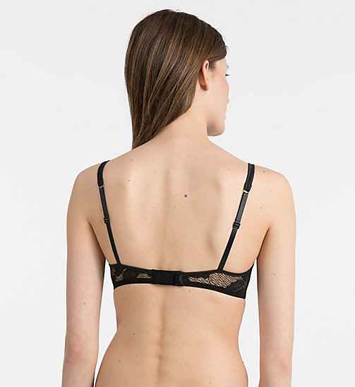 CALVINKLEIN Push-Up Balconette Bra - CK Black Lily Lace - BLACK - CALVIN KLEIN NEW IN - detail image 1