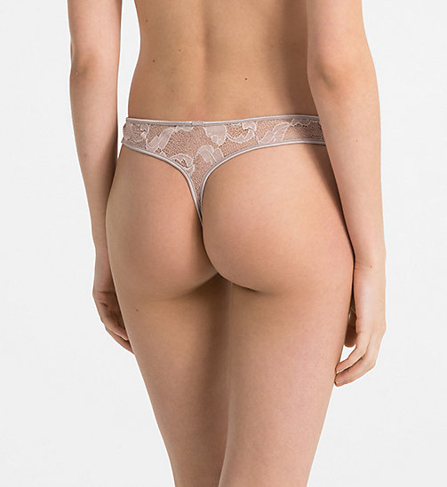 CALVINKLEIN Thong - CK Black Lily Lace - SILVER ROSE -  NEW FOR WOMEN - detail image 1