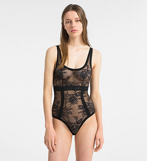 CALVINKLEIN Bodysuit - CK Black Floral - BLACK - CALVIN KLEIN NEW FOR WOMEN - main image