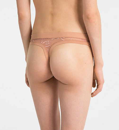 CALVINKLEIN Thong - CK Black Floral - UNITY - CALVIN KLEIN NEW FOR WOMEN - detail image 1