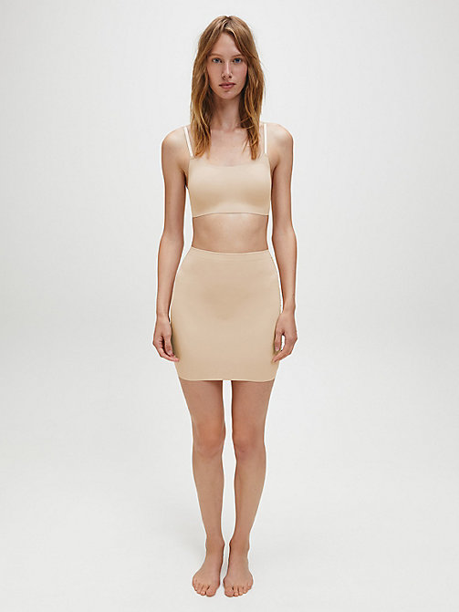 CALVINKLEIN Half Slip Dress - Invisibles - BARE - CALVIN KLEIN SLIPS - main image