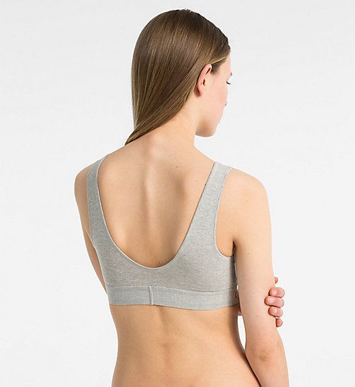 CALVINKLEIN Bralette - Monogram - GREY HEATHER - CALVIN KLEIN MONOGRAM FOR HER - detail image 1