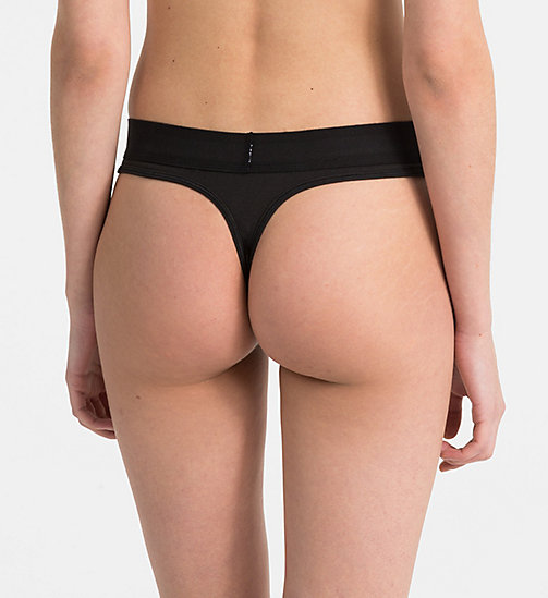 CALVINKLEIN Thong - Monogram - BLACK - CALVIN KLEIN MONOGRAM FOR HER - detail image 1