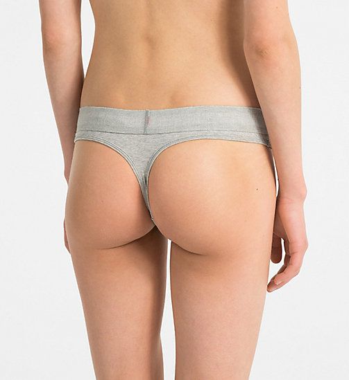 CALVINKLEIN Thong - Monogram - GREY HEATHER - CALVIN KLEIN MONOGRAM FOR HER - detail image 1