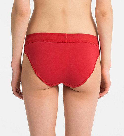 CALVINKLEIN Bikini Brief - Monogram - MANIC RED - CALVIN KLEIN MONOGRAM FOR HER - detail image 1
