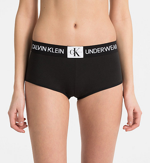 CALVINKLEIN Boy Shorts - Monogram - BLACK - CALVIN KLEIN NEW FOR WOMEN - main image