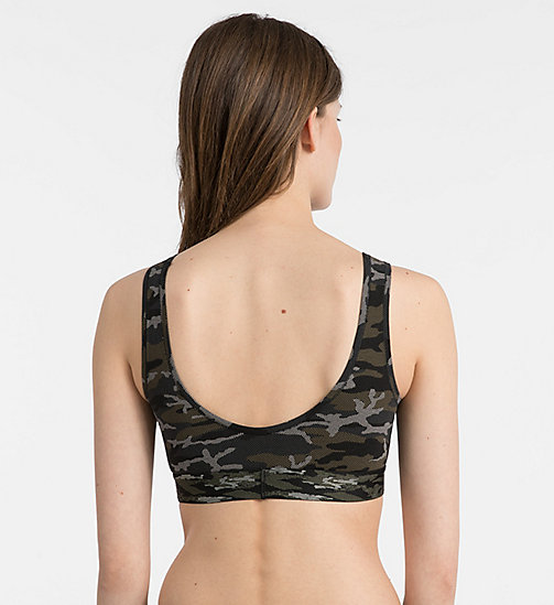 CALVINKLEIN Bralette - Camo - CAMO_BLACK - CALVIN KLEIN NEW FOR WOMEN - detail image 1