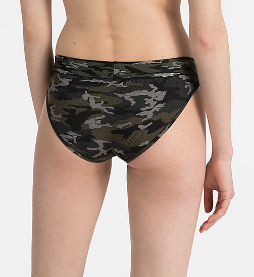 CALVINKLEIN Bikini Brief - Camo - CAMO_BLACK -  NEW FOR WOMEN - detail image 1