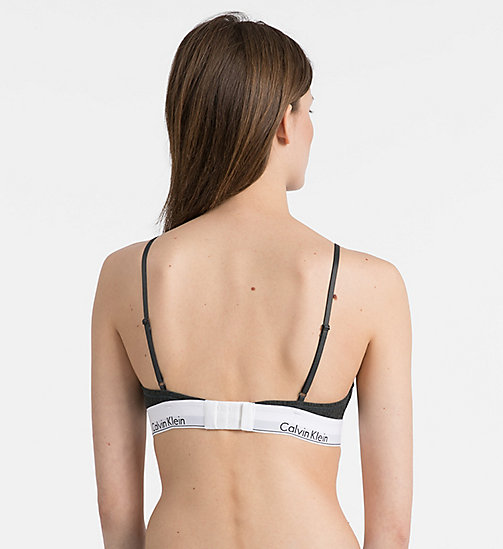 CALVINKLEIN Triangle Bra - Modern Cotton - RIB KNIT_CHARCOAL HEATHER - CALVIN KLEIN SHOP BY SET - detail image 1