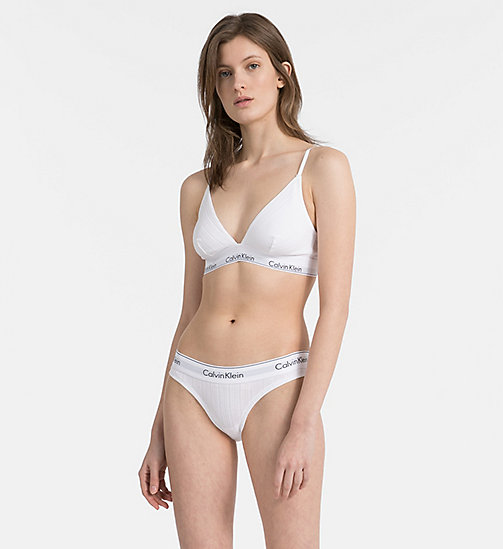CALVIN KLEIN Triangel-BH - Modern Cotton - RIB KNIT_WHITE - CALVIN KLEIN TRIANGEL-BHs - main image 1