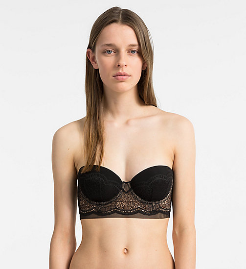 CALVIN KLEIN Strapless Bra - CK Black - BLACK - CALVIN KLEIN NEW FOR WOMEN - main image