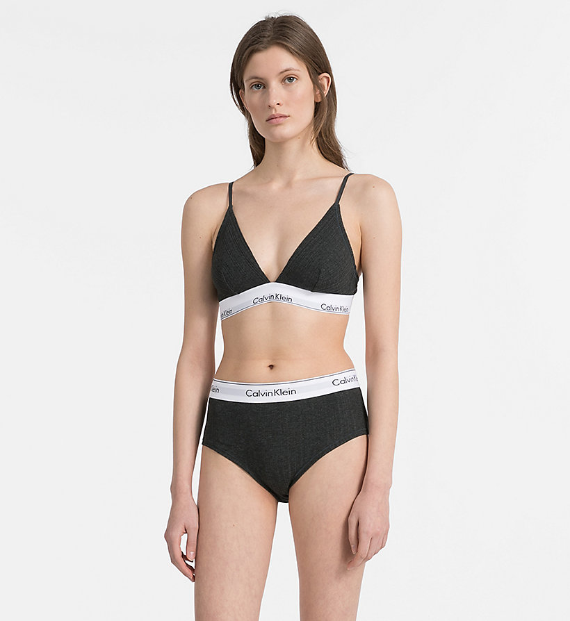 CALVINKLEIN High Waist Bikini Brief - Modern Cotton - NYMPH'S HEATHER - CALVIN KLEIN UNDERWEAR - detail image 3