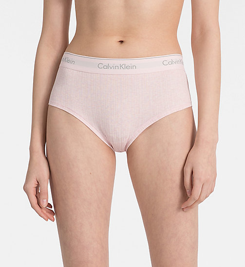 CALVINKLEIN High Waist Bikini Brief - Modern Cotton - NYMPH'S HEATHER - CALVIN KLEIN NEW IN - main image