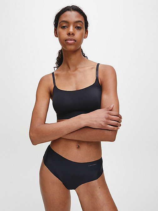 CALVIN KLEIN High Waist Thong - Invisibles - BLACK - CALVIN KLEIN THONGS - detail image 1