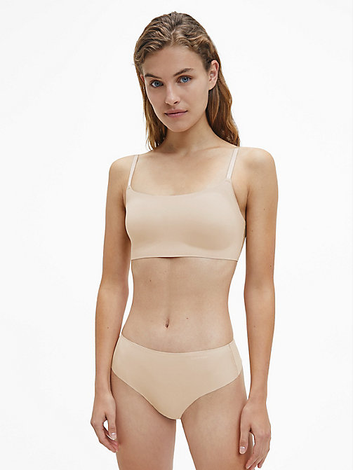 CALVINKLEIN High Waist Thong - Invisibles - BARE - CALVIN KLEIN ESSENTIAL SETS - detail image 1