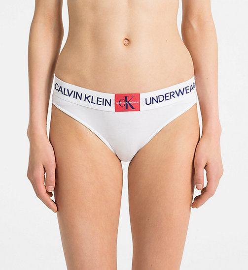 CALVINKLEIN Bikini Brief - Monogram - WHITE -  NEW FOR WOMEN - main image