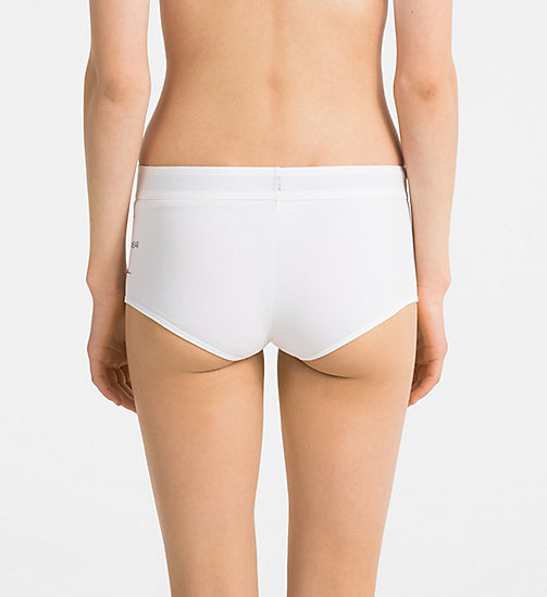 CALVINKLEIN Boyshorts - Monogram - WHITE - CALVIN KLEIN MONOGRAM FOR HER - main image 1