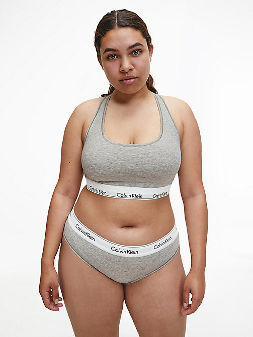 CALVIN KLEIN Unlined Bralette - Modern Cotton Plus - GREY HEATHER - CALVIN KLEIN NEW INS - detail image 1