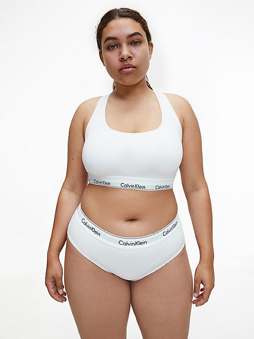 CALVIN KLEIN Unlined Bralette - Modern Cotton Plus - WHITE - CALVIN KLEIN NEW FOR WOMEN - detail image 1