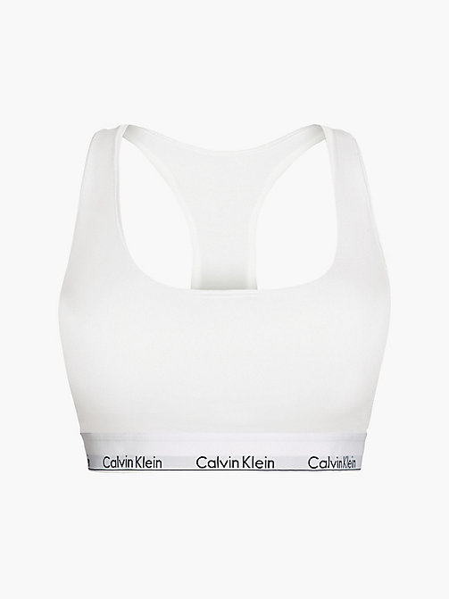 CALVIN KLEIN Ungefütterter Bustier - Modern Cotton Plus - WHITE - CALVIN KLEIN NEW IN - main image