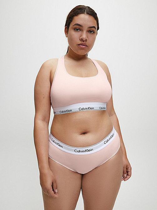 CALVIN KLEIN Unlined Bralette - Modern Cotton Plus - NYMPHS THIGH - CALVIN KLEIN NEW INS - detail image 1