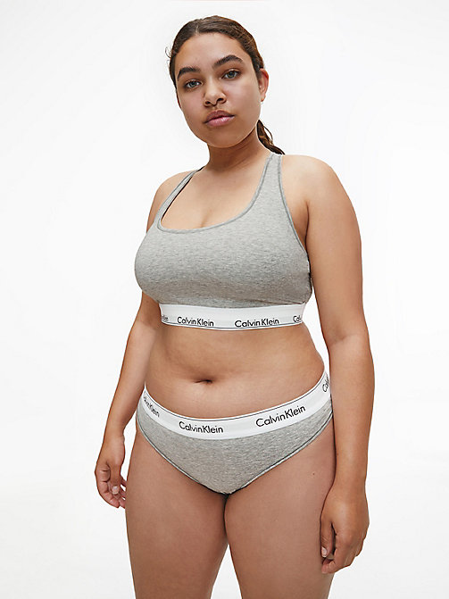 CALVIN KLEIN Thong - Modern Cotton Plus - GREY HEATHER - CALVIN KLEIN NEW FOR WOMEN - detail image 1