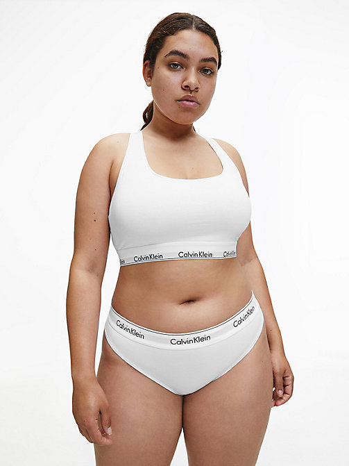 CALVIN KLEIN Thong - Modern Cotton Plus - WHITE - CALVIN KLEIN NEW FOR WOMEN - detail image 1