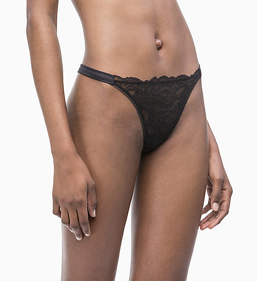 CALVIN KLEIN String - CK Black - BLACK - CALVIN KLEIN NEW IN - main image