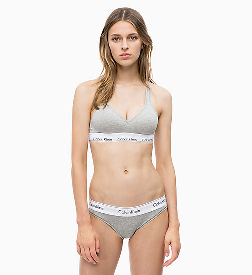 CALVIN KLEIN Adjustable Bralette - Modern Cotton - GREY HEATHER - CALVIN KLEIN SHOP BY SET - detail image 1