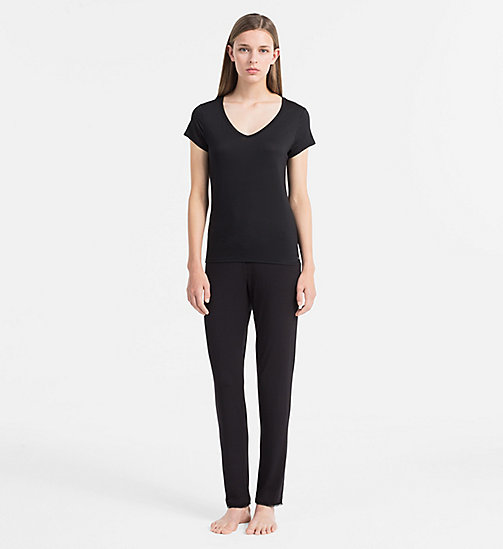 CALVIN KLEIN Top - Cotton Luxe - BLACK - CALVIN KLEIN LOUNGE TOPS - detail image 1
