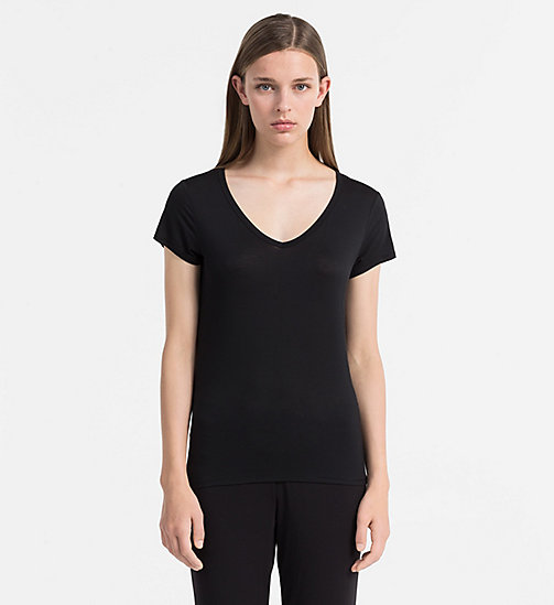 CALVINKLEIN Top - Cotton Luxe - BLACK - CALVIN KLEIN LOUNGE TOPS - main image