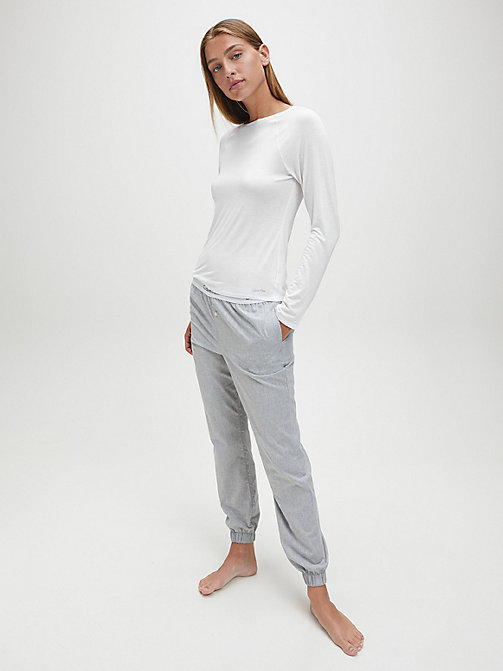 CALVINKLEIN Top - Cotton Luxe - WHITE - CALVIN KLEIN NIGHTWEAR & LOUNGEWEAR - detail image 1
