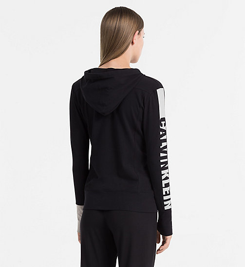 CALVINKLEIN Hoodie - Seamless - BLACK (SOOTHING GREY LOGO) -  LOUNGE TOPS - detail image 1