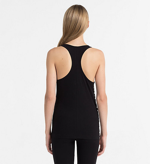 CALVINKLEIN Tank Top - Seamless - BLACK (SOOTHING GREY LOGO) - CALVIN KLEIN LOUNGE TOPS - detail image 1