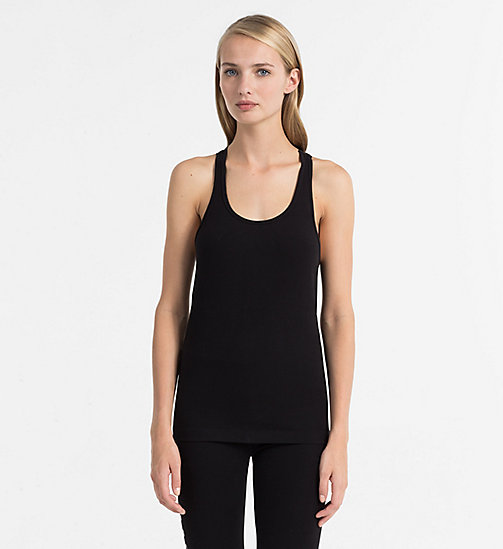 CALVINKLEIN Tank Top - Seamless - BLACK (SOOTHING GREY LOGO) - CALVIN KLEIN LOUNGE TOPS - main image