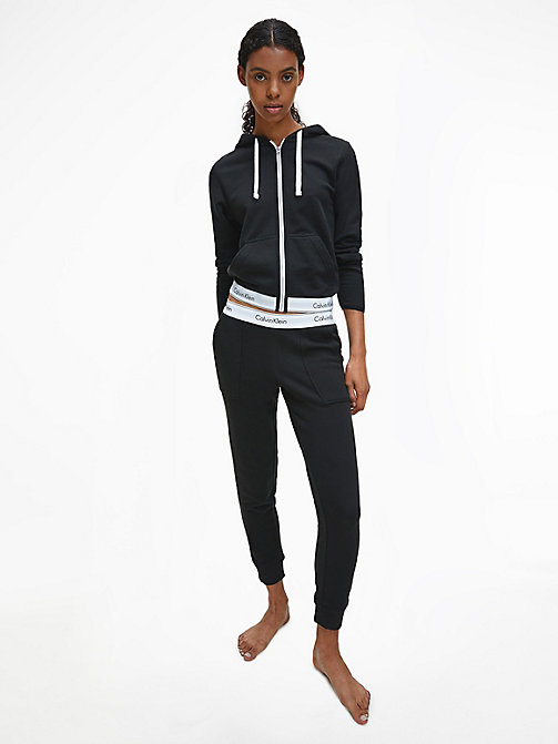 CALVINKLEIN Zip Hoodie - Modern Cotton - BLACK -  PYJAMA TOPS - detail image 1
