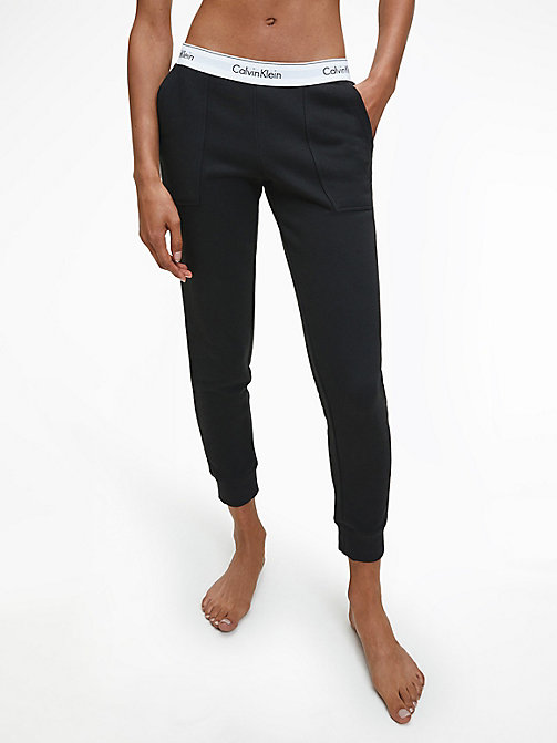 CALVIN KLEIN Sweatpants - Modern Cotton - BLACK - CALVIN KLEIN LOUNGE PANTS - main image