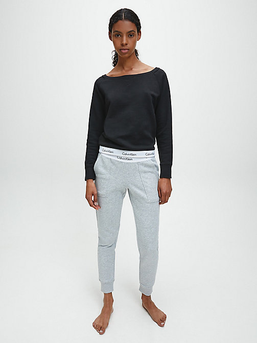 CALVIN KLEIN Top - Modern Cotton - BLACK - CALVIN KLEIN LOUNGE TOPS - detail image 1